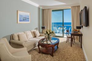 A seating area at Royal Princess Hotel