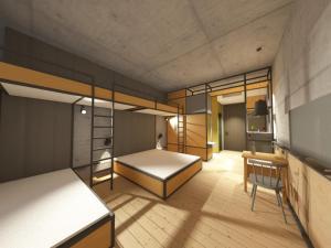 A bunk bed or bunk beds in a room at Gasthof-Hotel Höhensteiger