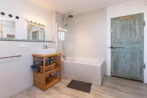A bathroom at Le Grand Yote