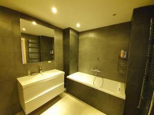 Vonios kambarys apgyvendinimo įstaigoje Rent Lux Apartment in Chisinau