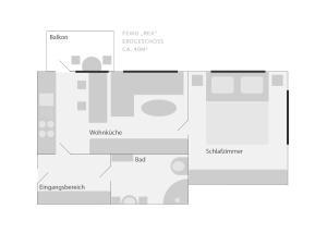 The floor plan of Ferienwohnung Rex