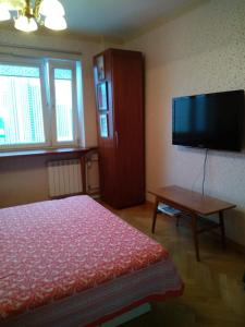 A television and/or entertainment centre at Bed and Breakfast in Moscow