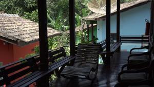 A balcony or terrace at Pousada do Riacho/Trindade