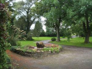 A garden outside Green Bank Farmhouse