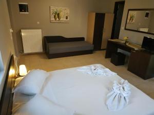 Cama o camas de una habitación en Villa Gereoudis