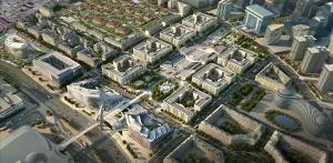 Uma vista aérea de BAKU-WHITE CITY