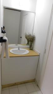 A bathroom at Hostal familiar la Alborada