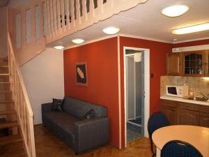 אזור ישיבה ב-Hotel Liechtenstein Apartments II