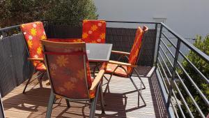 A balcony or terrace at Mihaela
