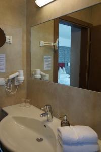 Ein Badezimmer in der Unterkunft Hotel Weingut Rosenhof