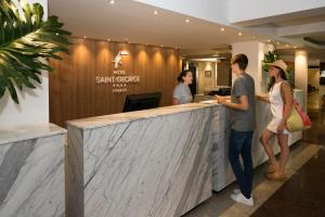 The lobby or reception area at Hotel Saint George