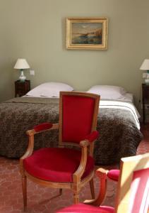 A seating area at La Maison d'Odette