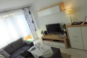 A television and/or entertainment centre at Apartament Sosnowa