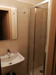 A bathroom at Hotel Siena