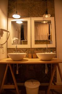 A bathroom at Cantagua Hostel