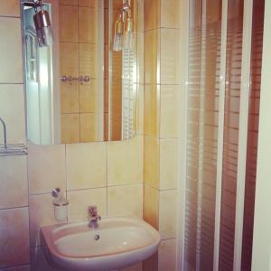 Łazienka w obiekcie Hotel Wkra