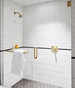 A bathroom at 21c Museum Hotel Kansas City