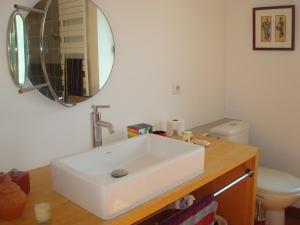 Salle de bains dans l'établissement La Chambre du Meunier