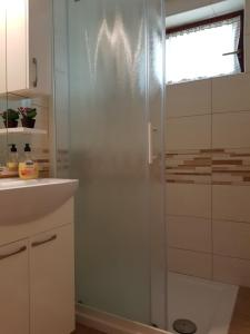 Salle de bains dans l'établissement Vaznik Farm House Apartments