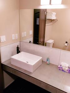 A bathroom at Shon's - Bike - Ski - Stay
