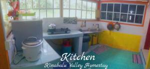 A kitchen or kitchenette at Kinabalu Valley Guesthouse