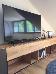 A television and/or entertainment center at gemütliches Apartment bei Jena