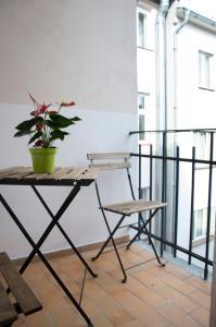 Balkón nebo terasa v ubytování Designer Loft at Stodolní street