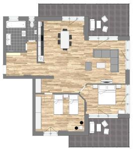 Plán poschodí v ubytovaní Apartmány Noviny