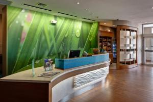 The lobby or reception area at SpringHill Suites by Marriott Wichita Airport