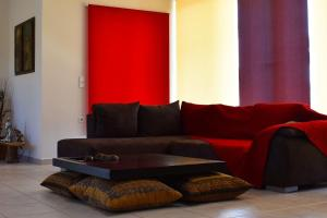 A seating area at Ktima Ioulia