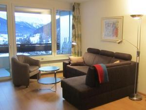 Ein Sitzbereich in der Unterkunft Apartment Alpenblick Superior