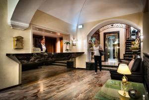 The lobby or reception area at Hotel dell'Angelo