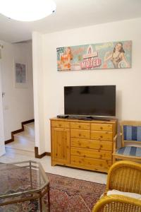 A television and/or entertainment center at Villa Romantic