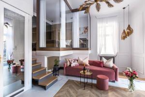 Coin salon dans l'établissement Fragola Apartments Old Town