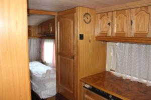 A bunk bed or bunk beds in a room at Camping Denis