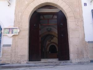 The facade or entrance of Hôtel Medina