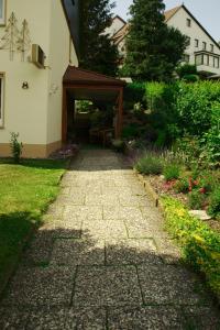 A garden outside Pension Volkert
