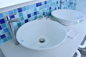 A bathroom at Maison Mitwaba