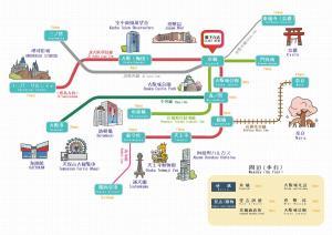 The floor plan of Sakuranomiya Hotel