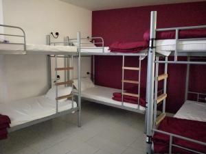 Litera o literas de una habitación en Joey's Hostel Agra