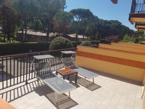 Balkón nebo terasa v ubytování Hotel Sole