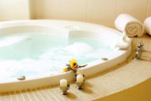 A bathroom at Hotel Melodia