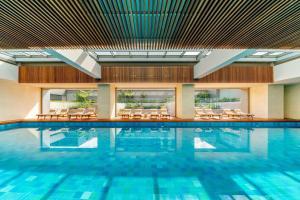 The swimming pool at or near Grand Hyatt Bogota