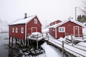 Svinøya Rorbuer durante l'inverno