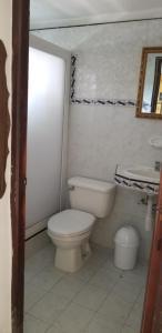 A bathroom at Casa Los Sauces