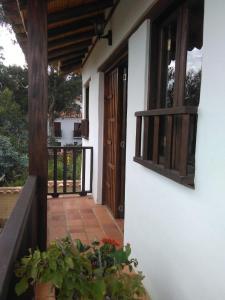 A balcony or terrace at Casa Tzabar