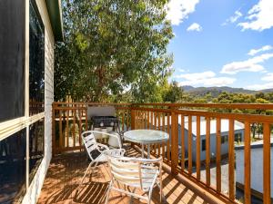 A balcony or terrace at Discovery Parks - Hobart