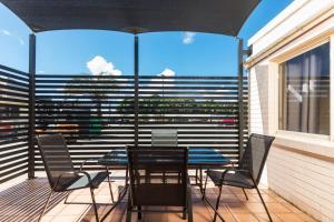 A balcony or terrace at Nightcap At Balaclava Hotel