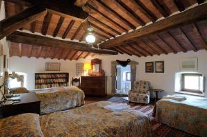 A seating area at Castello Di Potentino