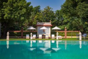 The swimming pool at or close to Jai Mahal Palace